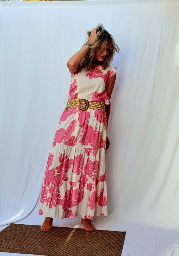 Set of long skirt and top
