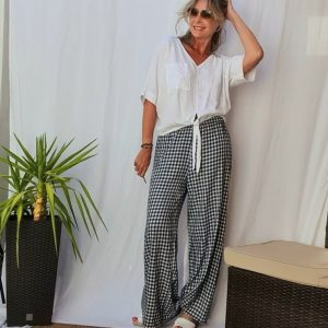 Vichy check women's trousers ITALY I
