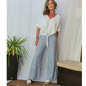 Vichy check women's trousers ITALY II